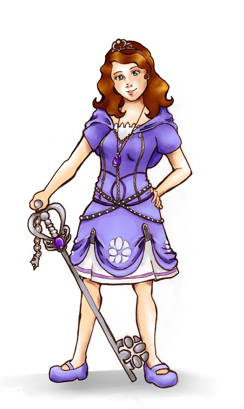 Sofia the Keyblade Wielder by chibipandora