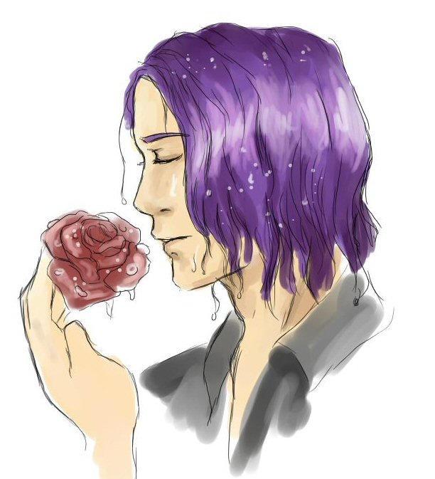 Rose in the Rain by chibipandora