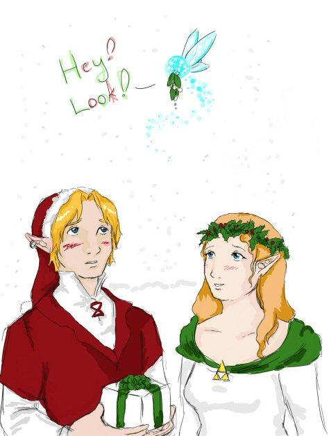 zelda+link christmas by chibipandora