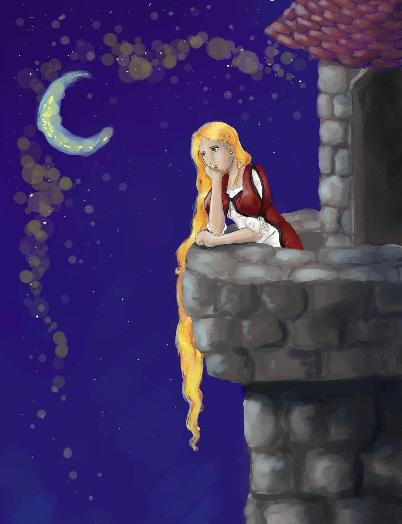 Rapunzel's Frusteration by chibipandora