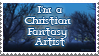 Christian fantasy artist stamp by Lightmare7