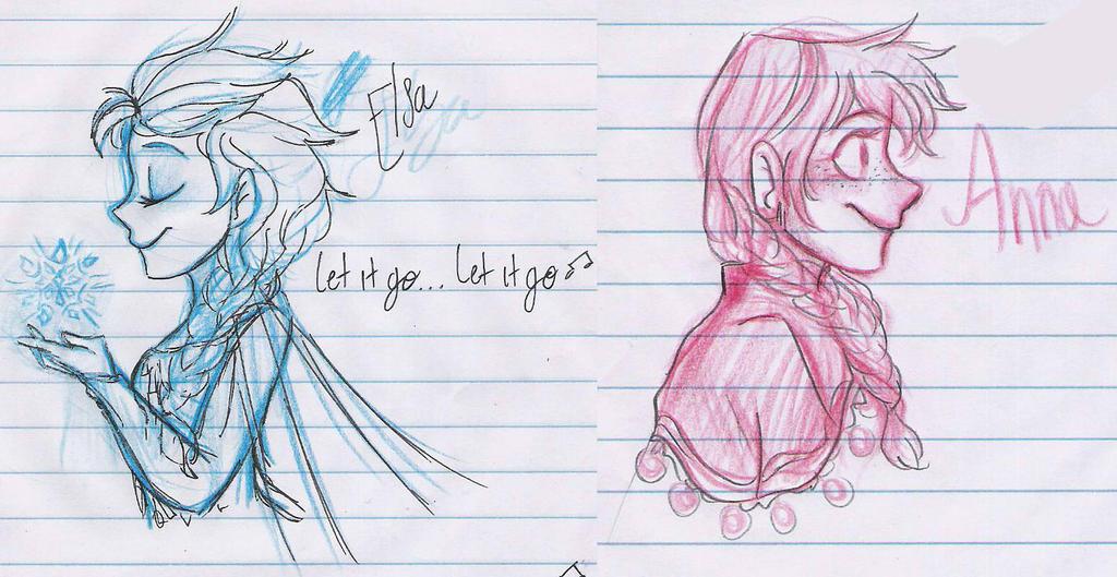 Elsa y Anna by SoftyMe