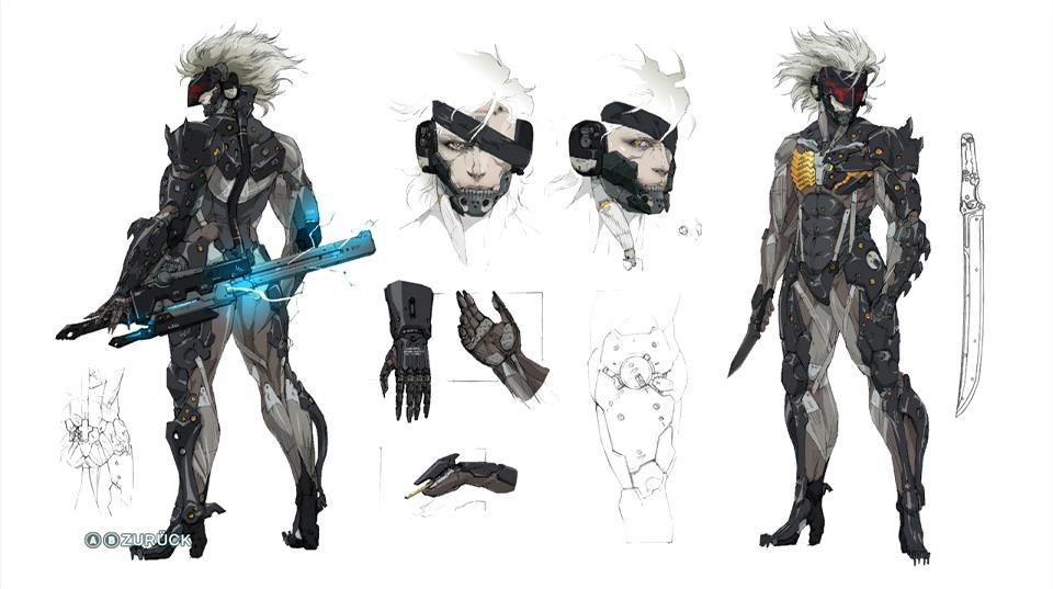 Raiden concept art metal gear rising revengeance by for Concept metal