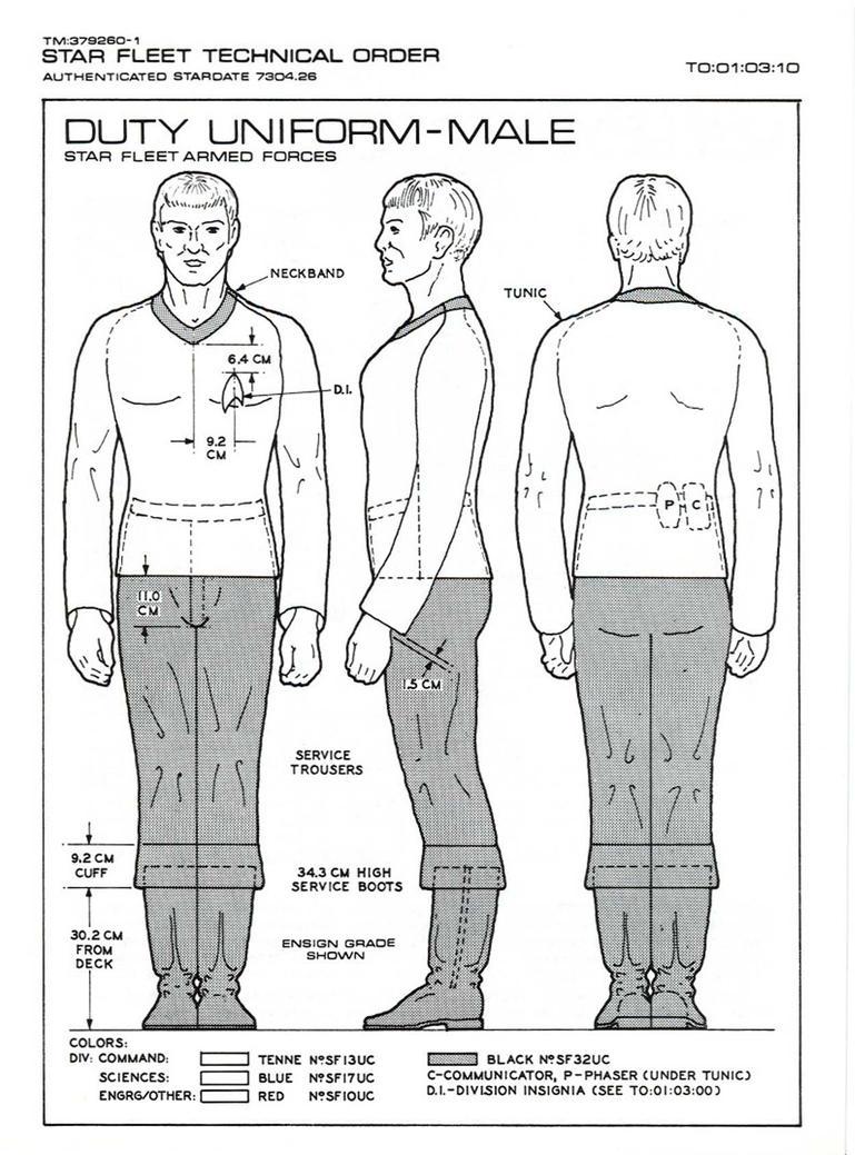 Star Trek TOS - Men Uniform Overview by Serenity-Discord on DeviantArt