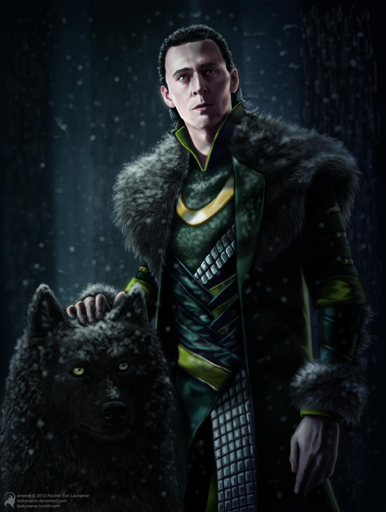 Loki and Puppy Fenrir by Oni-Panda379 on DeviantArt |Loki Fenrir