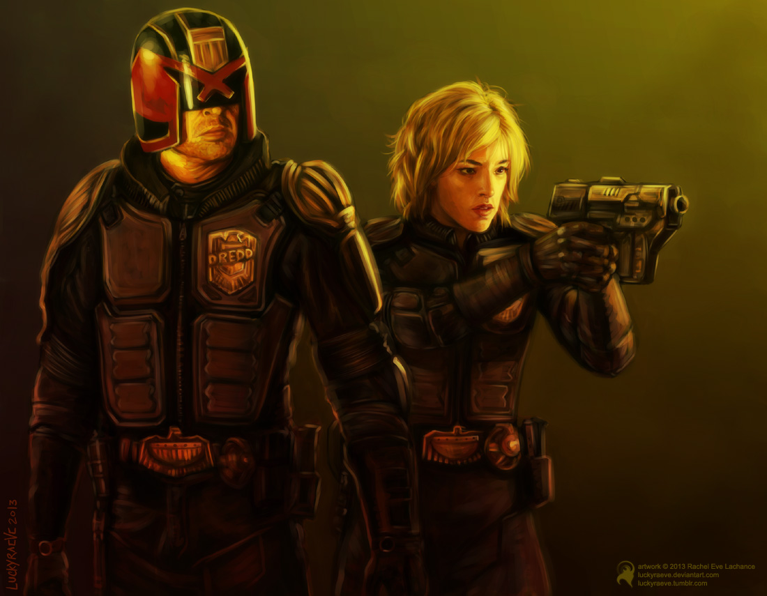 Dredd and Anderson by luckyraeve