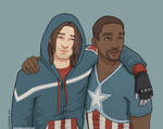 Bucky and Sam - coloured