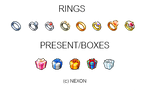 RINGS AND PRESENT/BOXES