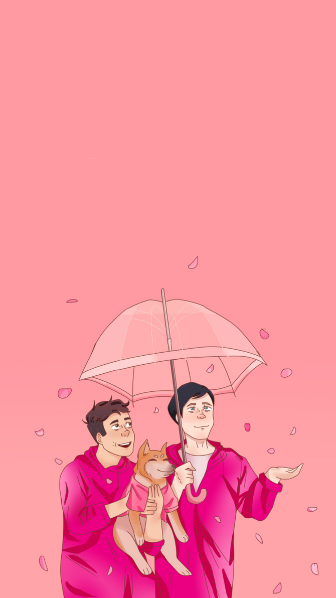 Dan And Phil Pink Dogs Wallpaper By Kurtaprince