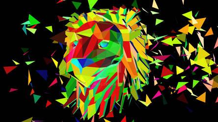 Fractal Lion by jrem090