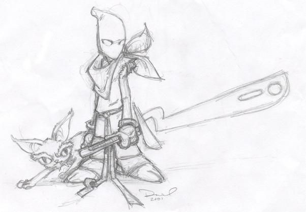 Alien Ninja Sketch By Angrypanda On DeviantArt