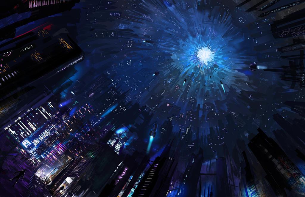 Sci fi City by Darrison