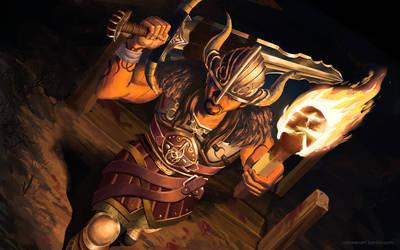 Viking Tryndamere Fan Splah by Darrison