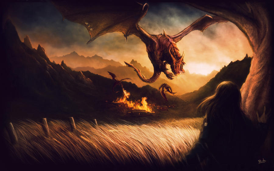 The Dragons War by rodg-art