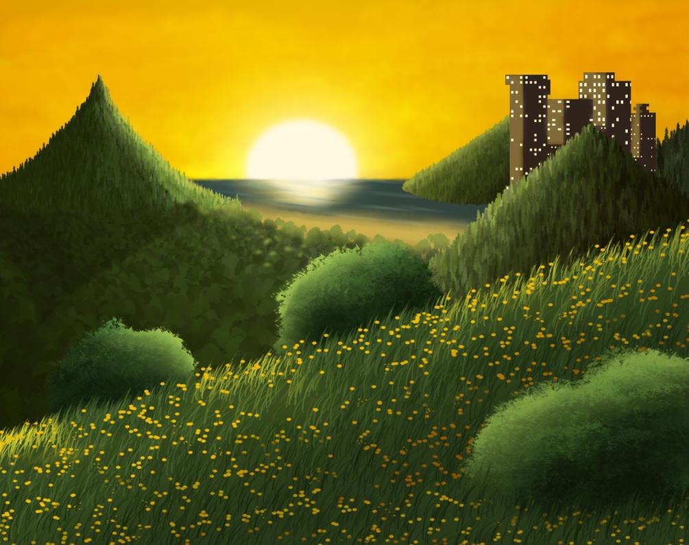 Ending Sunset by TheGeminiSage