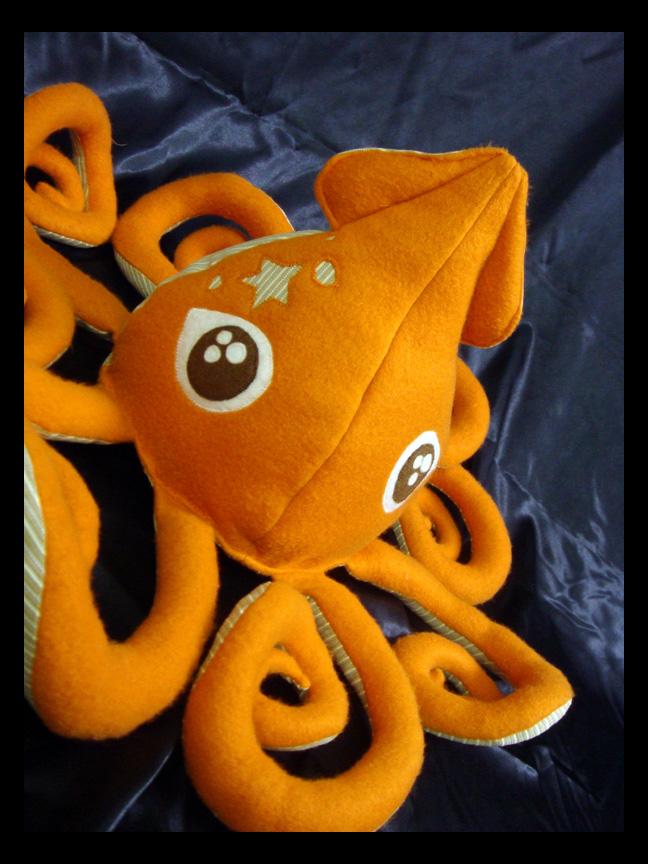 Orange Squid Plush 1 d by TheCurseofRainbow