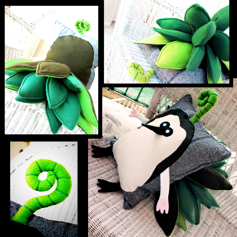 Legend of Zelda Skyward Sword Kikwi Plush Pillow 1 by TheCurseofRainbow
