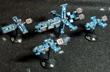 UNSC Dreadnaught and Cruisers (SOLD) by Spielorjh