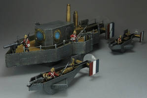 H.M.S. St. George and Escorts by Spielorjh