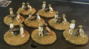 15mm Meerkats: Light Guns by Spielorjh
