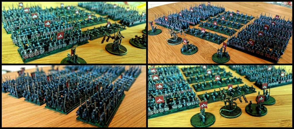 Orcs of the Misty Mountains (6mm, granny-grating) by Spielorjh
