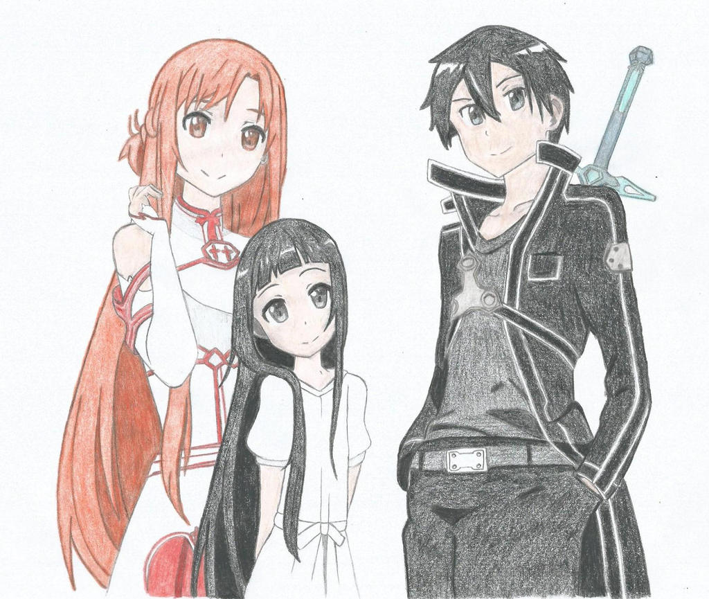 Asuna Yui Y Kirito Color By Hahc3shadow On Deviantart