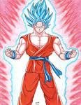 Goku Blue with Kaio-ken (Super Saiyan God Blue)