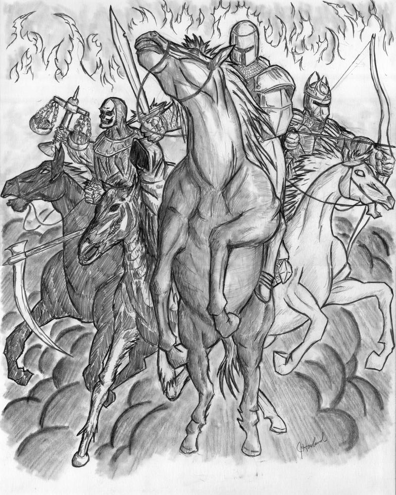 Horsemen of the apocalypse drawing