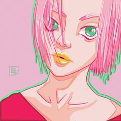 Sakura - Simple Portrait - Naruto