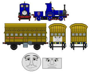 Tanya the track inspection engine and Rebecca the  by Plookustheplok
