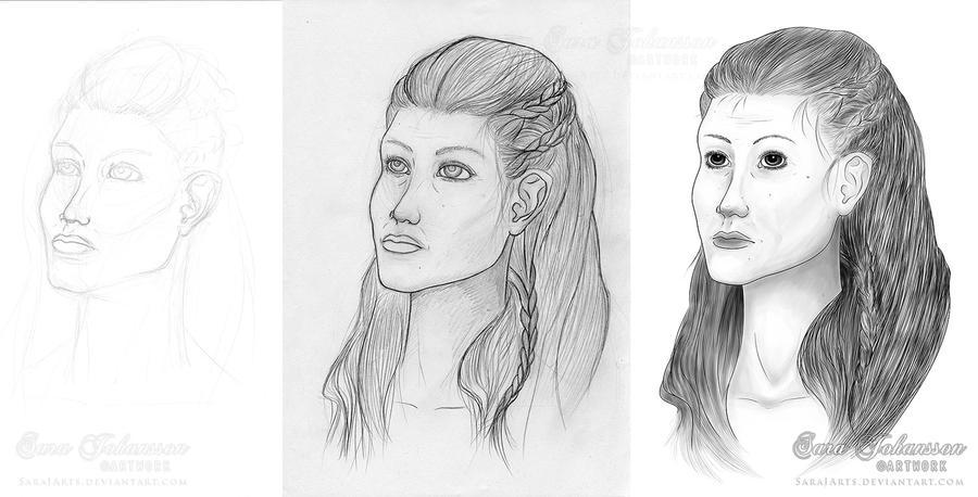 Middelaged viking Woman by SaraJArts