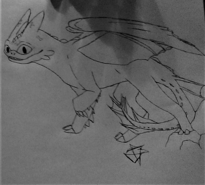 Random Toothless Drawing by ASRIELDREEMURRRRRR