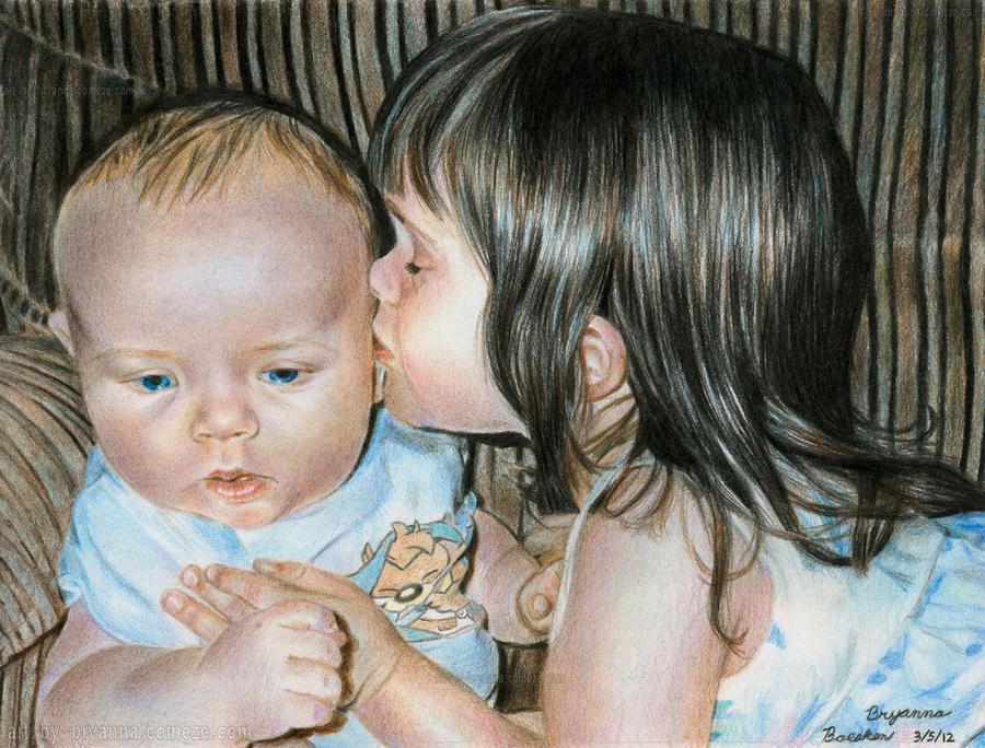 Sibling Love by ArtByBryanna