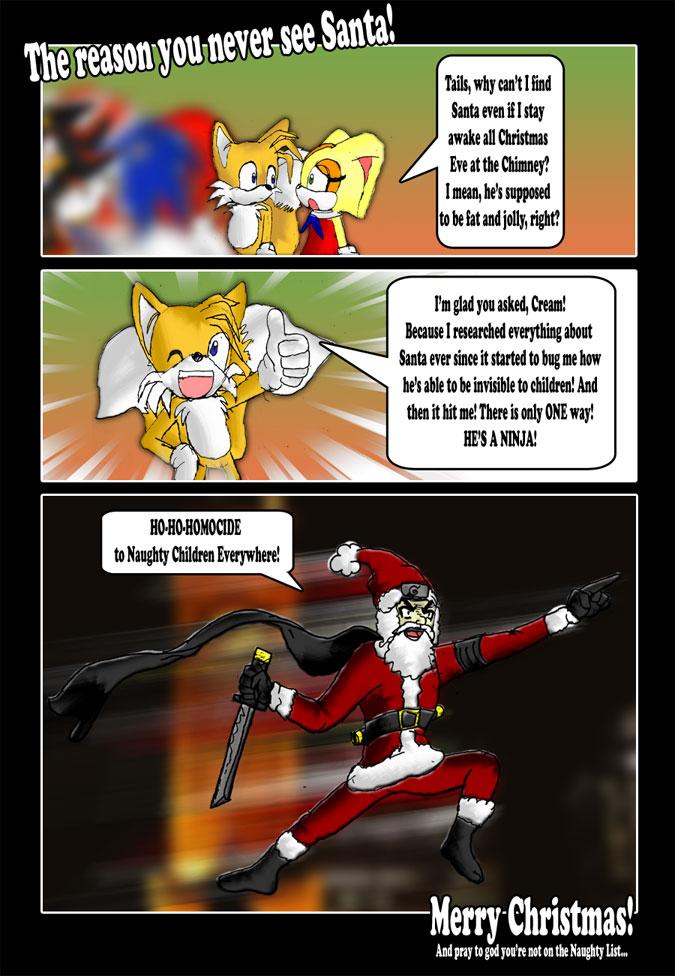 The reason you never see Santa by XNinjaRed