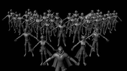 3D Models of XNinjas, WIP