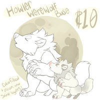 Howling Werewolf Base - $10 or 1000pts by gatorstooth