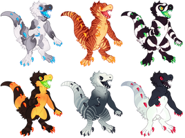 Fluffy Dinos - $15! [2/6] by gatorstooth