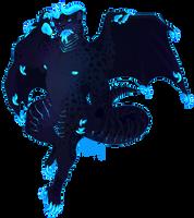 neon glow cat dragon - OTA! by gatorstooth