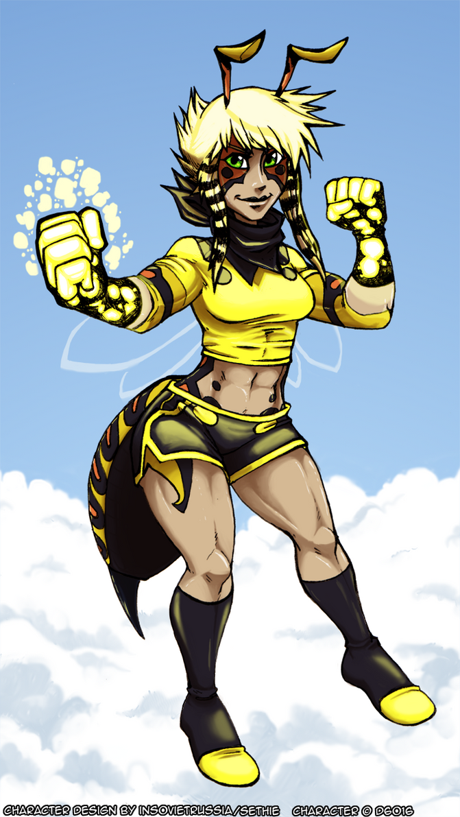 Wasp Girl Susan Lancer by d6016