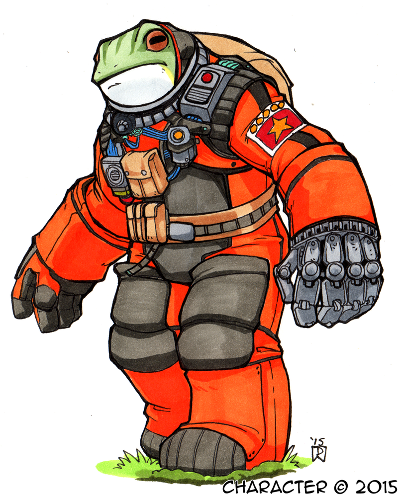Daily Newf 240 - Communist Space Frog by d6016