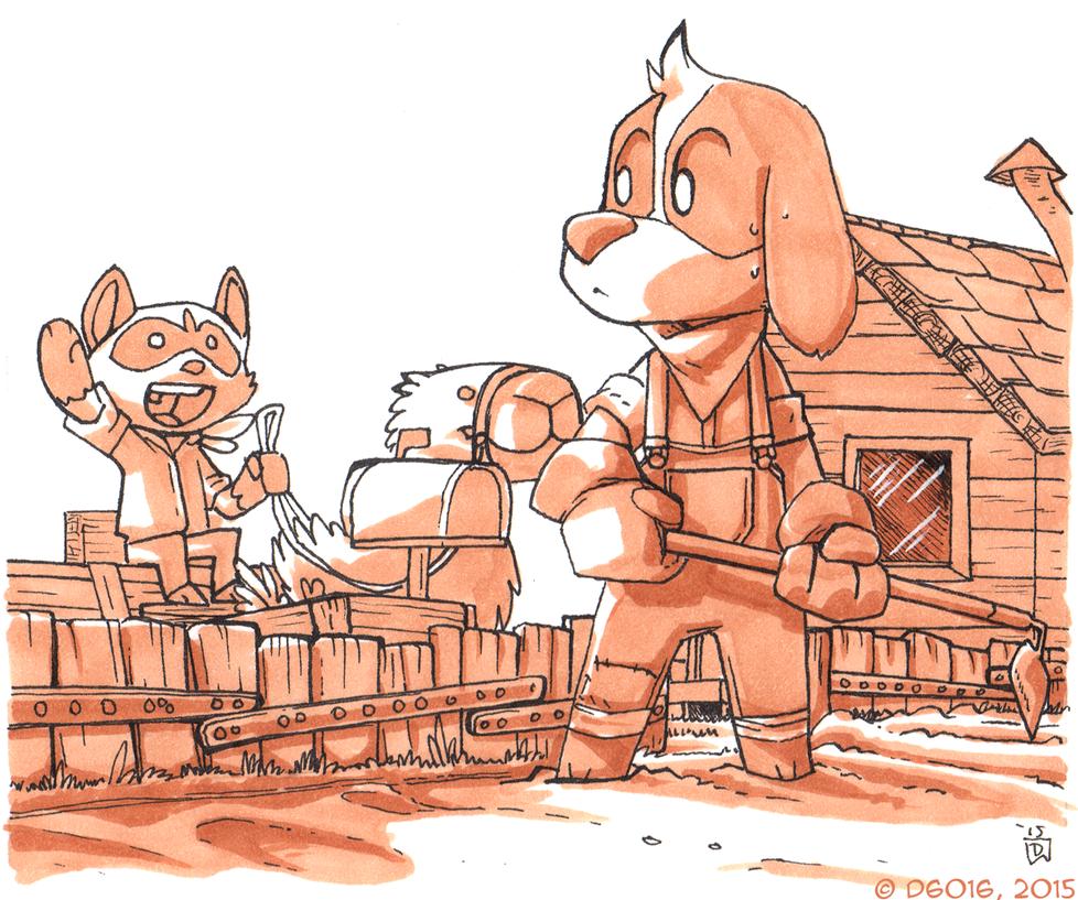 Daily Newf 330 - Farm Dog by d6016