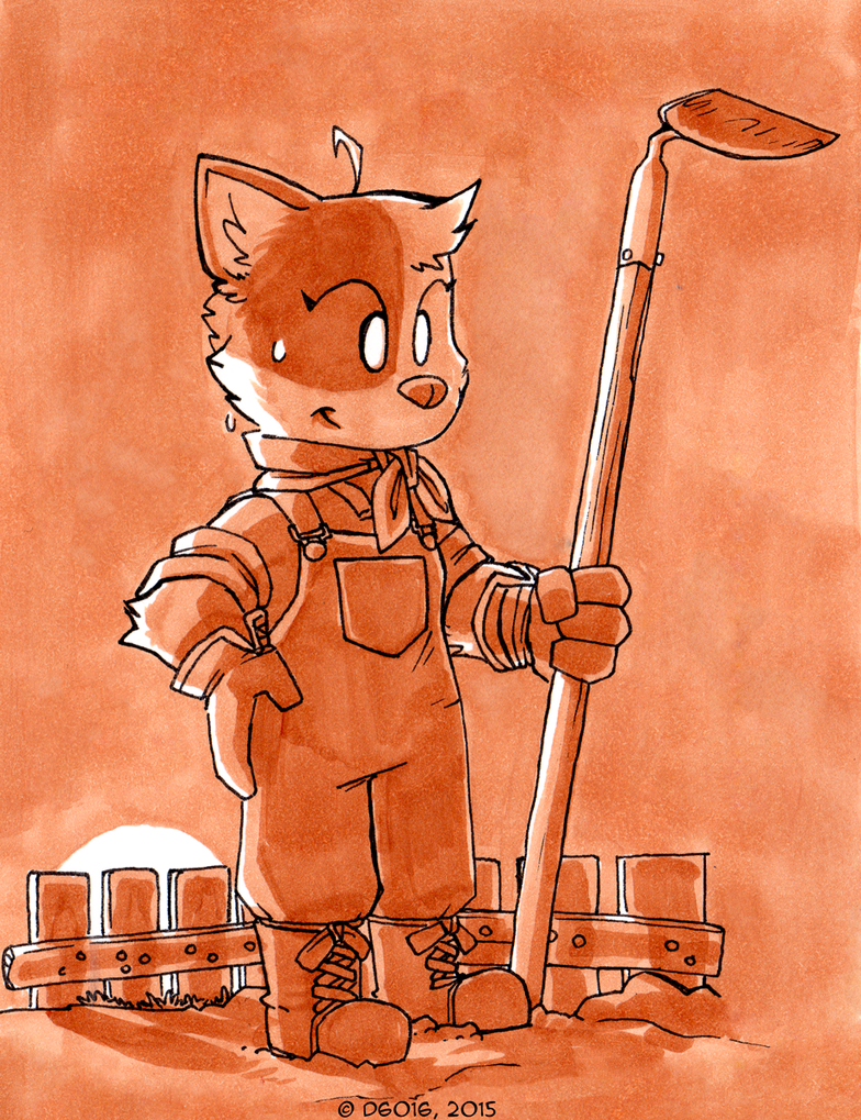 Daily Newf 332 - Farm Cat by d6016