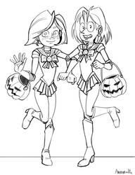 Teena and Stick halloween