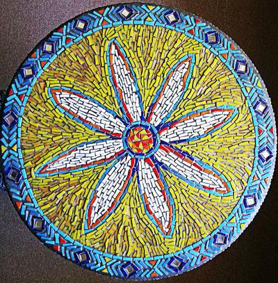 flower table mosaic by SamanthaJordaan