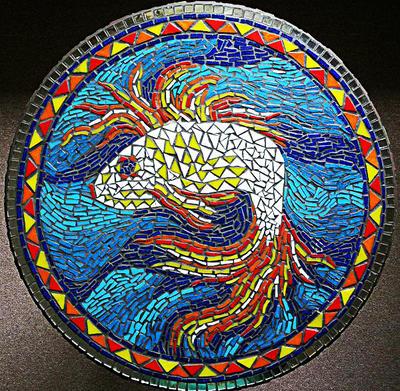 fish table mosaic by SamanthaJordaan