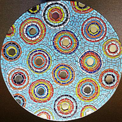 bubbles table mosaic by SamanthaJordaan