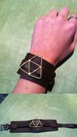 Triforce Leather Bracelet by PurpleTakara
