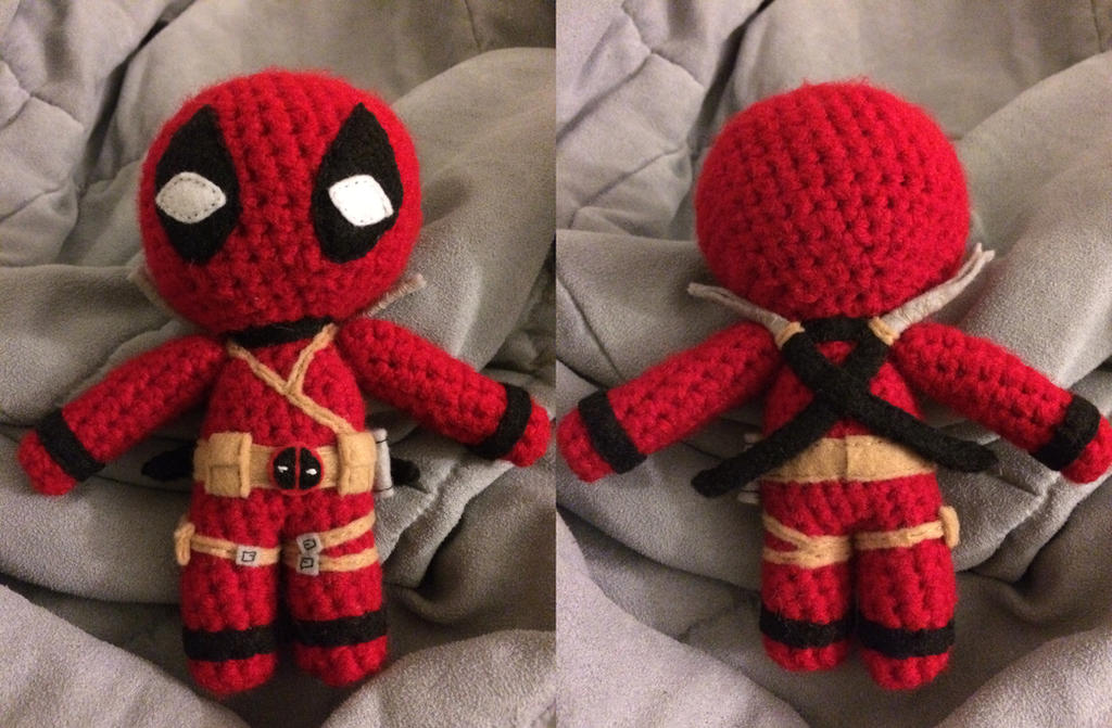 Crochet Wedding Dress Pattern Doll : Deadpool Amigurumi by PurpleTakara on DeviantArt