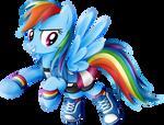 Rainbow Dash Equestria Girls  casual clothes.