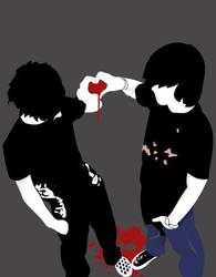 emo hearts by DeadpoolvsSpawn
